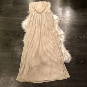 Champagne Colored Maxi Dress